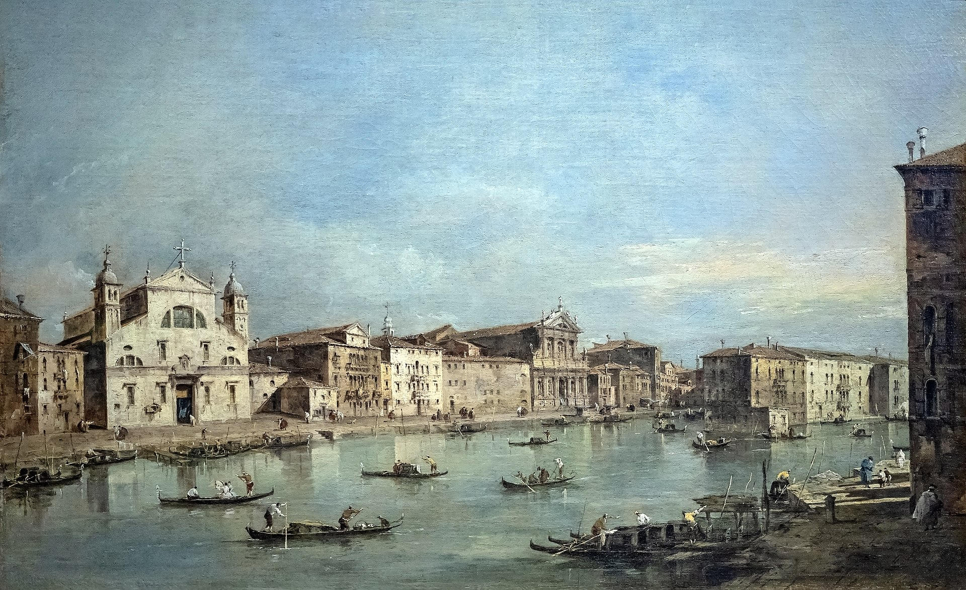 Francesco Guardi Museo Thyssen veduta