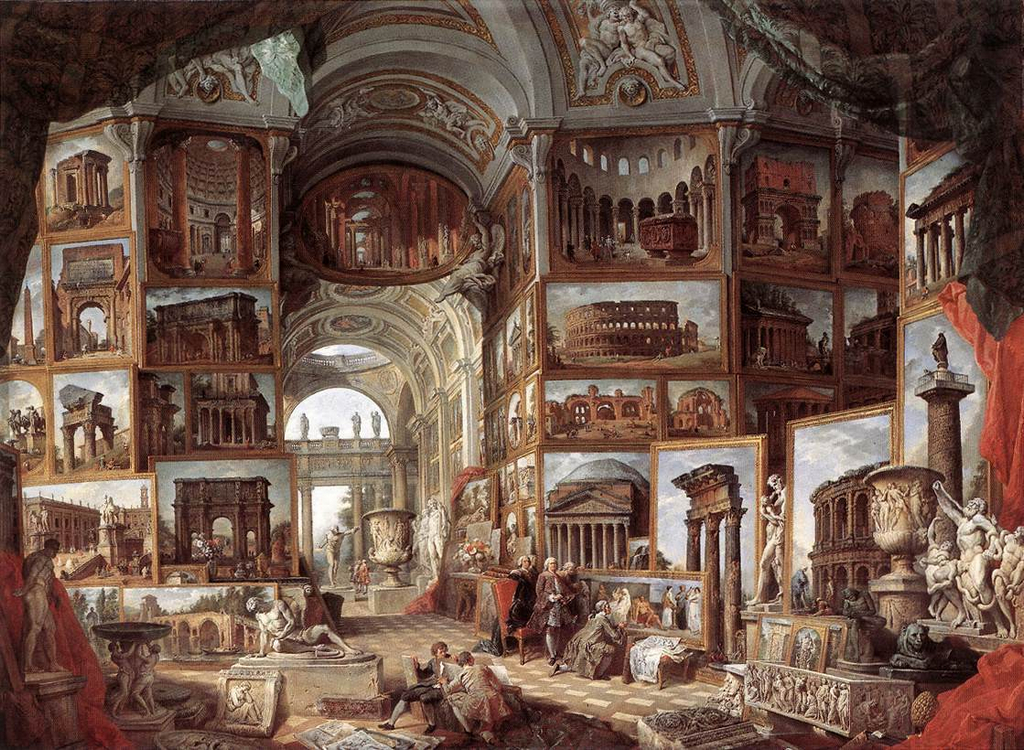 Giovanni Pannini Louvre Roma pintor