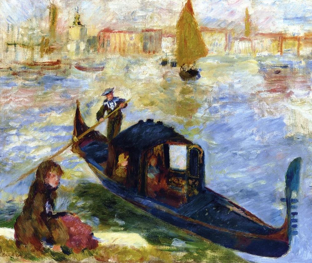 Auguste Renoir Venecia góndola