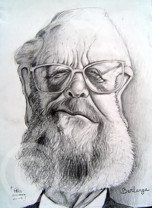 Luís García Berlanga caricatura