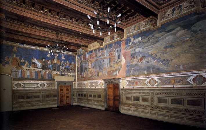 lorenzetti gótico pintura siena italia toscana