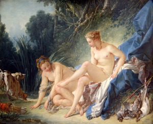 """El Baño de Diana"", 1742, Louvre"