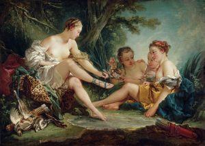 """""""Diana después de la cacería"""". 1745, Museo Cognasy-Jay, París"""