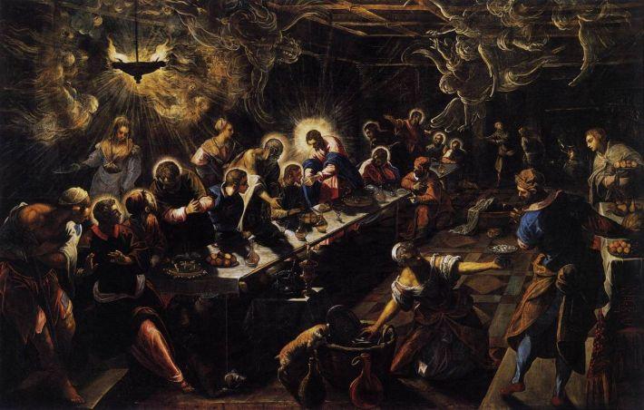 Tintoretto pintura venecia última cena