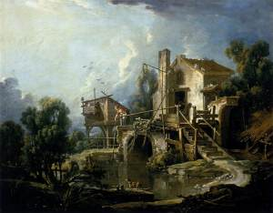 """""""Molino de Charenton"""". 1750, Museo de Bellas Artes de Orleans"""