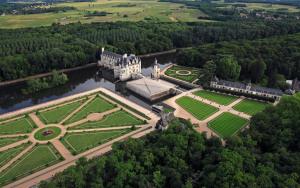 Vista aérea de Chenonceau