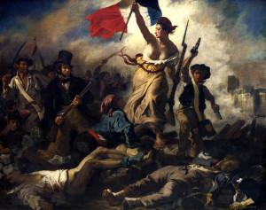 """""""La libertad guiando al pueblo"""" (1830)"""