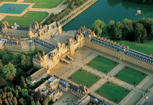Imagen aérea de Fontainebleau