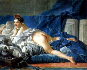 """""""La Odalisca Morena"""", 1749, Louvre"""