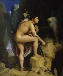 Jean-Auguste-Dominique_Ingres_-_Oedipus_and_the_Sphinx_-_Walters_379