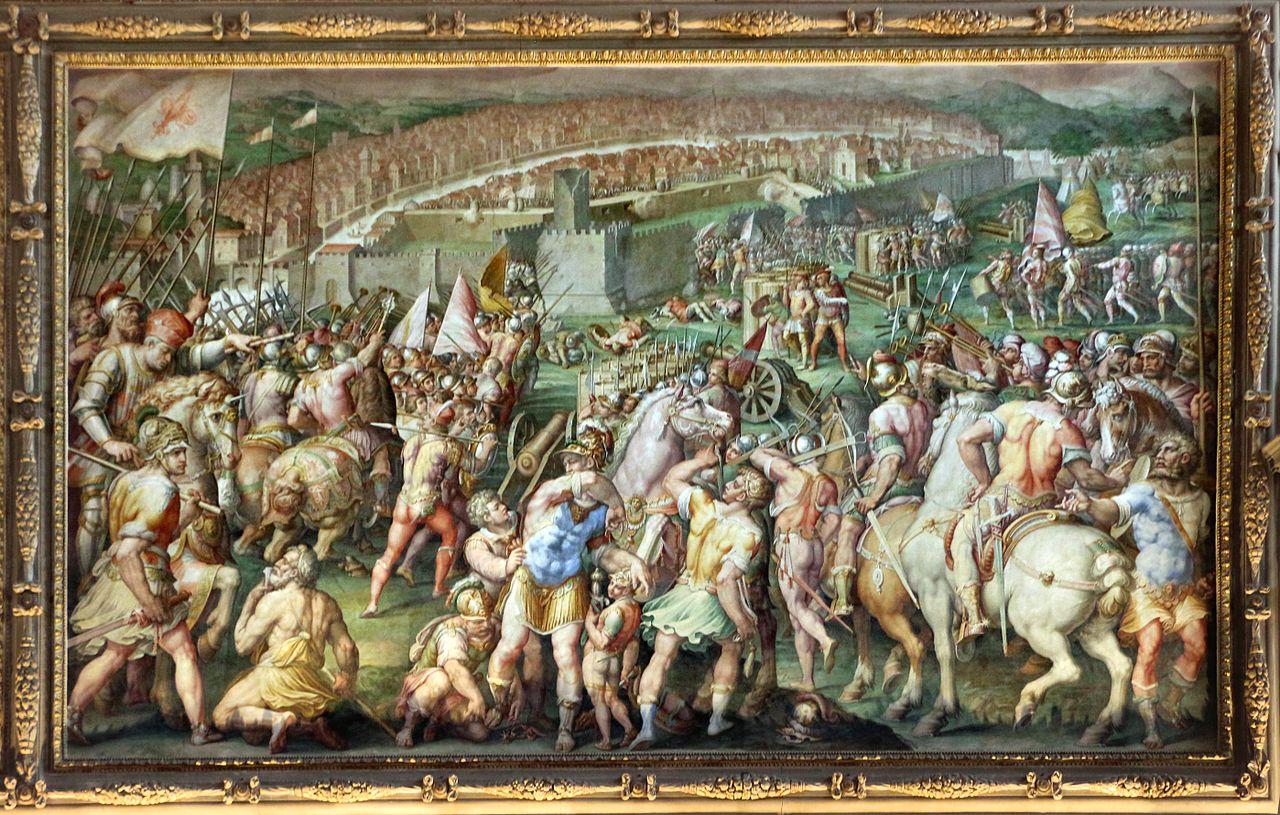 """Pisa atacada por las tropas florentinas"", Giorgio Vasari, 1563"
