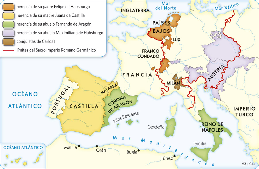 mapa imperio carlos